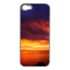 Sunset The Pacific Ocean Evening Apple Iphone 5 Case (silver)
