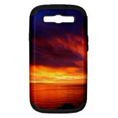 Sunset The Pacific Ocean Evening Samsung Galaxy S Iii Hardshell Case (pc+silicone)