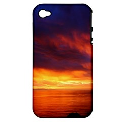 Sunset The Pacific Ocean Evening Apple Iphone 4/4s Hardshell Case (pc+silicone)