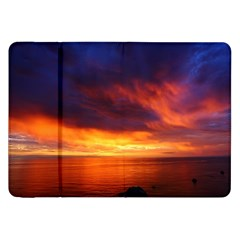 Sunset The Pacific Ocean Evening Samsung Galaxy Tab 8 9  P7300 Flip Case