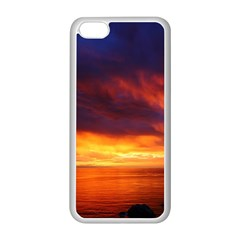 Sunset The Pacific Ocean Evening Apple Iphone 5c Seamless Case (white)