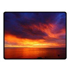 Sunset The Pacific Ocean Evening Double Sided Fleece Blanket (small)