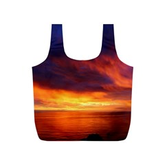 Sunset The Pacific Ocean Evening Full Print Recycle Bags (s)