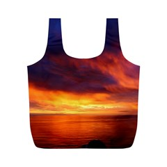 Sunset The Pacific Ocean Evening Full Print Recycle Bags (m)