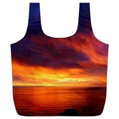 Sunset The Pacific Ocean Evening Full Print Recycle Bags (l)