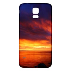Sunset The Pacific Ocean Evening Samsung Galaxy S5 Back Case (white)