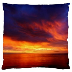 Sunset The Pacific Ocean Evening Large Flano Cushion Case (two Sides)