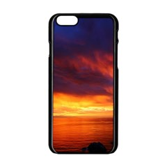 Sunset The Pacific Ocean Evening Apple Iphone 6/6s Black Enamel Case