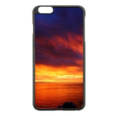 Sunset The Pacific Ocean Evening Apple Iphone 6 Plus/6s Plus Black Enamel Case