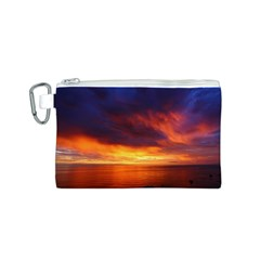 Sunset The Pacific Ocean Evening Canvas Cosmetic Bag (s)