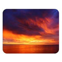 Sunset The Pacific Ocean Evening Double Sided Flano Blanket (large)