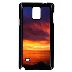 Sunset The Pacific Ocean Evening Samsung Galaxy Note 4 Case (black)