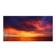 Sunset The Pacific Ocean Evening Satin Wrap
