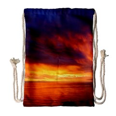 Sunset The Pacific Ocean Evening Drawstring Bag (large)