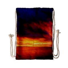 Sunset The Pacific Ocean Evening Drawstring Bag (small)