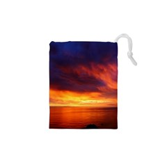 Sunset The Pacific Ocean Evening Drawstring Pouches (XS)