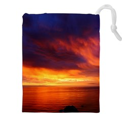 Sunset The Pacific Ocean Evening Drawstring Pouches (xxl)