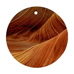 Sandstone The Wave Rock Nature Red Sand Ornament (Round)