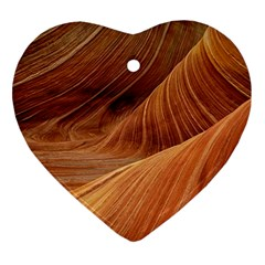 Sandstone The Wave Rock Nature Red Sand Ornament (heart)
