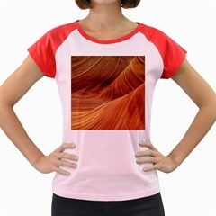 Sandstone The Wave Rock Nature Red Sand Women s Cap Sleeve T Shirt