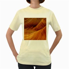 Sandstone The Wave Rock Nature Red Sand Women s Yellow T Shirt