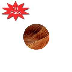 Sandstone The Wave Rock Nature Red Sand 1  Mini Magnet (10 Pack)