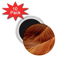 Sandstone The Wave Rock Nature Red Sand 1 75  Magnets (10 Pack)