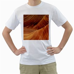 Sandstone The Wave Rock Nature Red Sand Men s T-Shirt (White) (Two Sided)