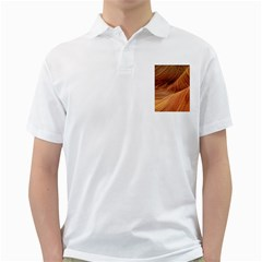 Sandstone The Wave Rock Nature Red Sand Golf Shirts