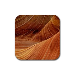 Sandstone The Wave Rock Nature Red Sand Rubber Coaster (square)