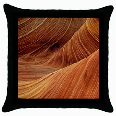 Sandstone The Wave Rock Nature Red Sand Throw Pillow Case (black)