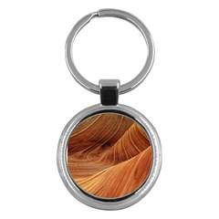 Sandstone The Wave Rock Nature Red Sand Key Chains (round)