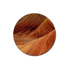 Sandstone The Wave Rock Nature Red Sand Rubber Coaster (Round)