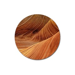Sandstone The Wave Rock Nature Red Sand Magnet 3  (round)