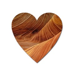 Sandstone The Wave Rock Nature Red Sand Heart Magnet