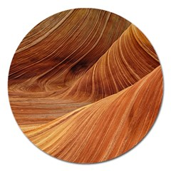 Sandstone The Wave Rock Nature Red Sand Magnet 5  (round)