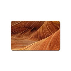 Sandstone The Wave Rock Nature Red Sand Magnet (Name Card)