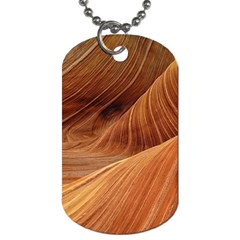 Sandstone The Wave Rock Nature Red Sand Dog Tag (One Side)