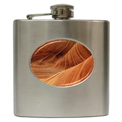 Sandstone The Wave Rock Nature Red Sand Hip Flask (6 Oz)