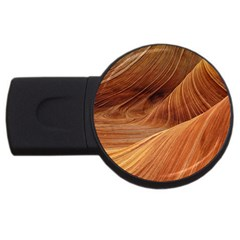Sandstone The Wave Rock Nature Red Sand Usb Flash Drive Round (2 Gb)