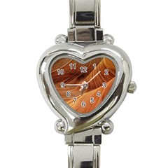 Sandstone The Wave Rock Nature Red Sand Heart Italian Charm Watch