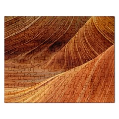 Sandstone The Wave Rock Nature Red Sand Rectangular Jigsaw Puzzl