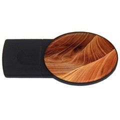 Sandstone The Wave Rock Nature Red Sand Usb Flash Drive Oval (4 Gb)