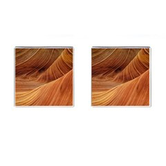 Sandstone The Wave Rock Nature Red Sand Cufflinks (square)