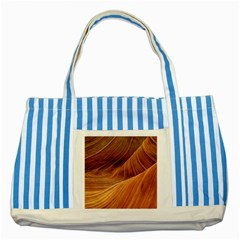 Sandstone The Wave Rock Nature Red Sand Striped Blue Tote Bag