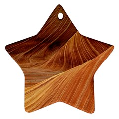 Sandstone The Wave Rock Nature Red Sand Star Ornament (Two Sides)