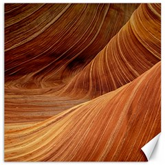 Sandstone The Wave Rock Nature Red Sand Canvas 20  X 20