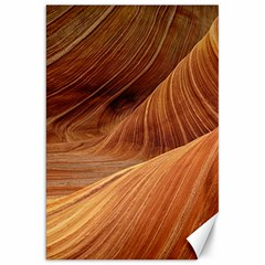 Sandstone The Wave Rock Nature Red Sand Canvas 20  X 30
