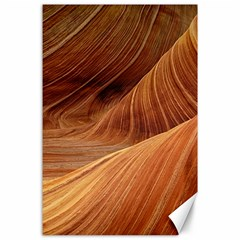 Sandstone The Wave Rock Nature Red Sand Canvas 24  X 36