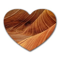 Sandstone The Wave Rock Nature Red Sand Heart Mousepads